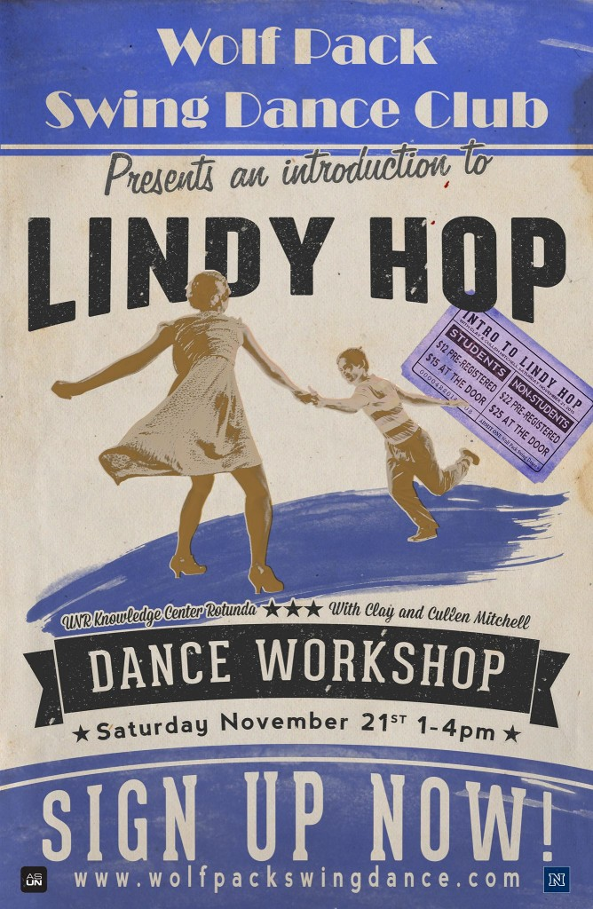 Lindy Hop Workshop coming up at UNR on November 21st.